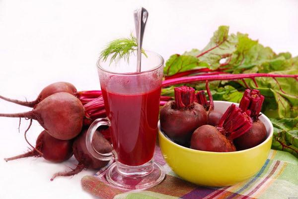 свекольный сок и салат