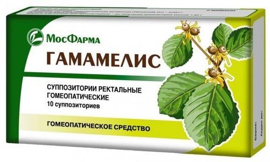 свечи гамамелис