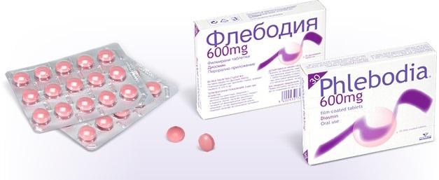 Таблетки Флебодиа 600 от геморроя и геморроидальных узлов