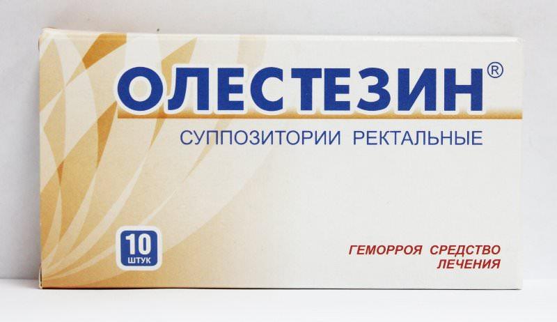 олестезин от геморроя