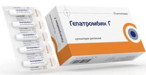 свечи гепатромбин-г