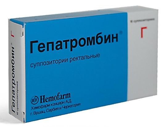 свечи гепатромбин г от геморроя