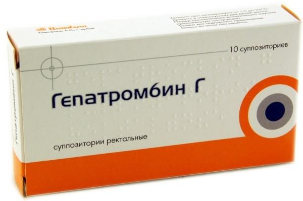 свечи гепатромбин г