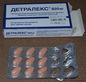Детралекс в таблетках для лечения геморроидальных узлов