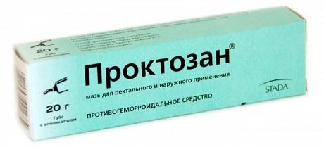 Мазь Проктозан для лечения геморроидальных узлов